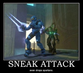 Sneak Attack: even drops spartans