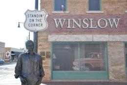 Standin' on the corner in Winslow, Arizona