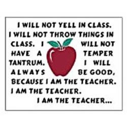 I am the teacher?