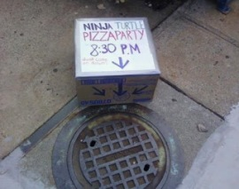 Ninja Turtle pizza party