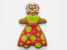 Gingerbread woman with cloths