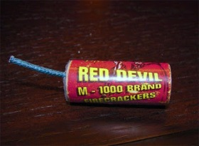 Red devil firecracker