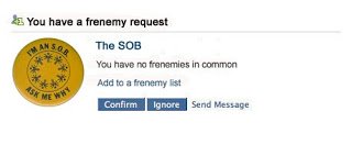 Frenemy request from The SOB