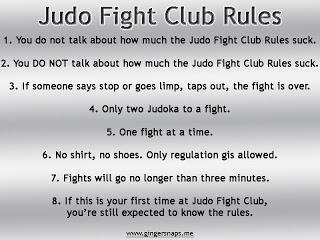 Judo Fight Club Rules