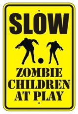 Slow zombie children at play