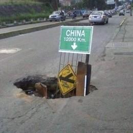 Hole to China