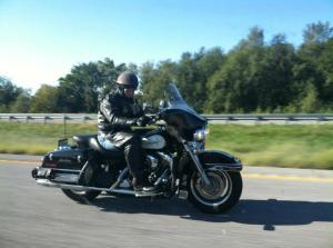 Lone biker of the apocalypse