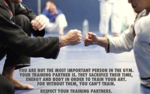 Respect your training partners