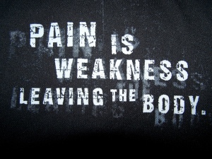 ain is weakness leaving the body.