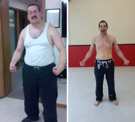 Brian's buff body by BJJ!