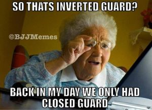 So that's inverted guard? Back in my day we only had closed guard.