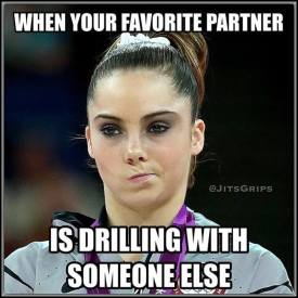 When your favorite partner is drilling with someone else.