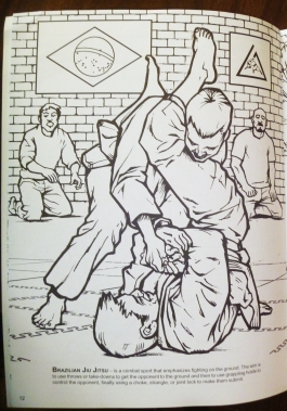 BJJ coloring book page